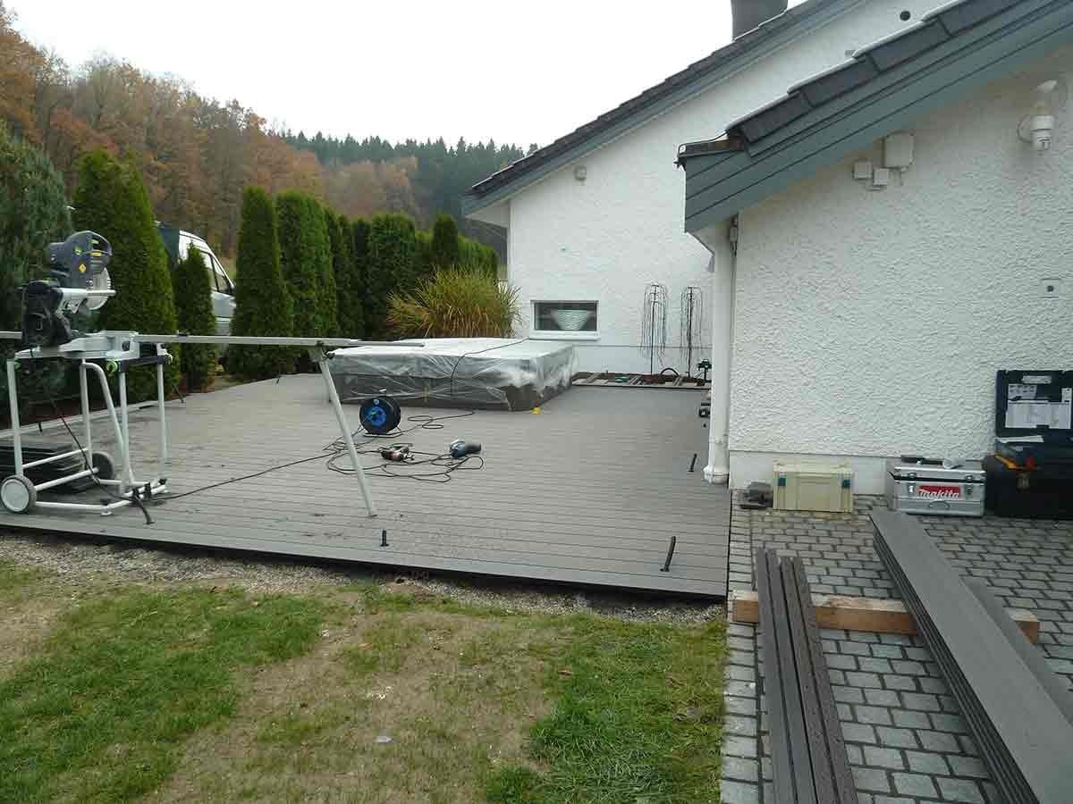 terrasse mit wirlpool und led beleuchtung neue schreinerei. Black Bedroom Furniture Sets. Home Design Ideas